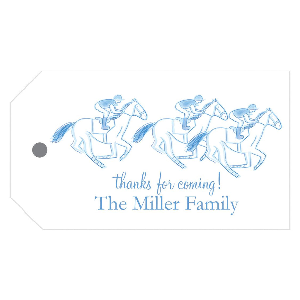 Derby Crest Personalized Horse Race Gift Tags