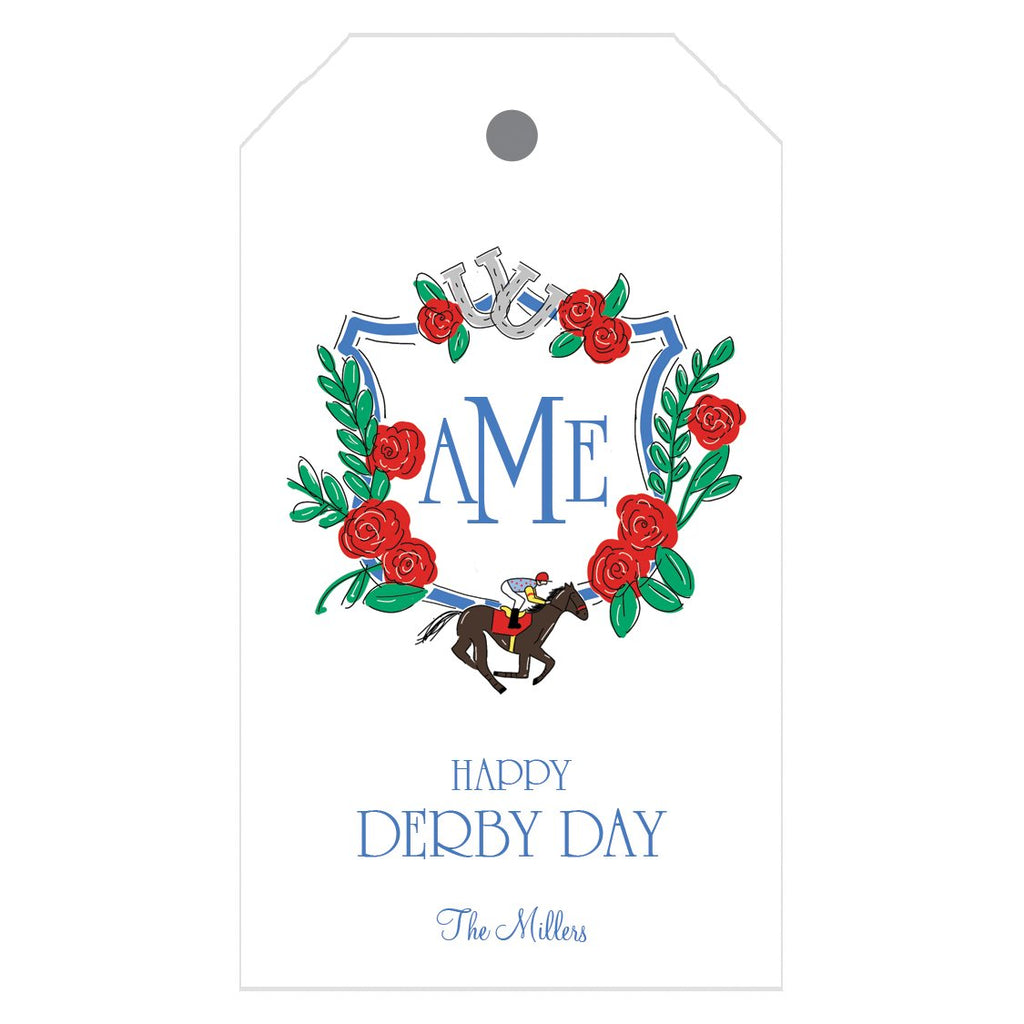 Derby Crest Personalized Gift Tags