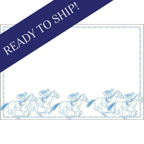 Derby Horse Race Paper Placemats