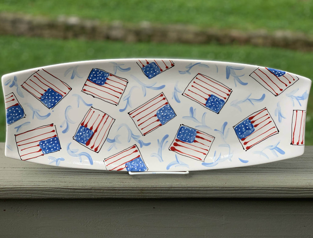 Flag Pattern Rectangular Platter