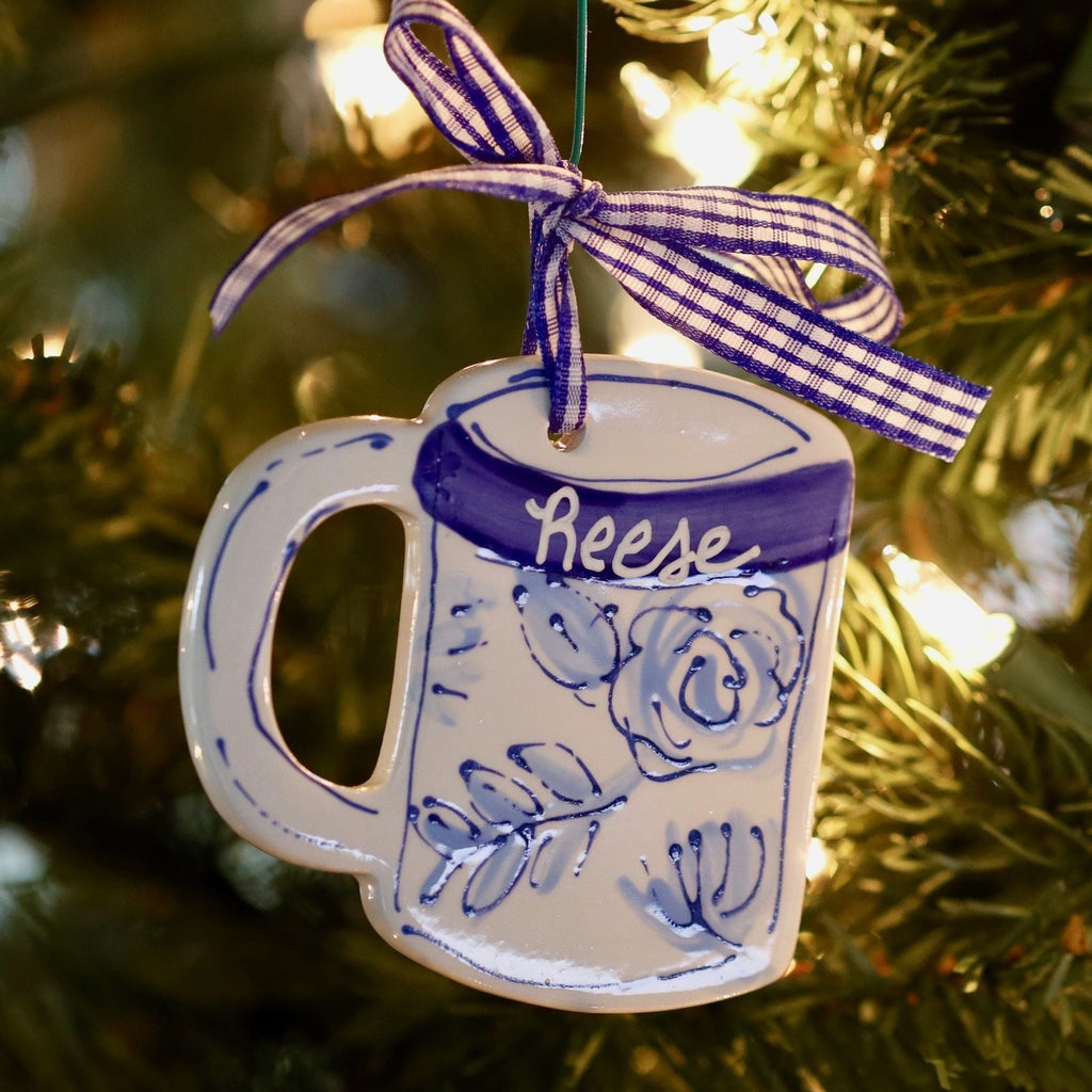 Floral Coffee Mug Ornament