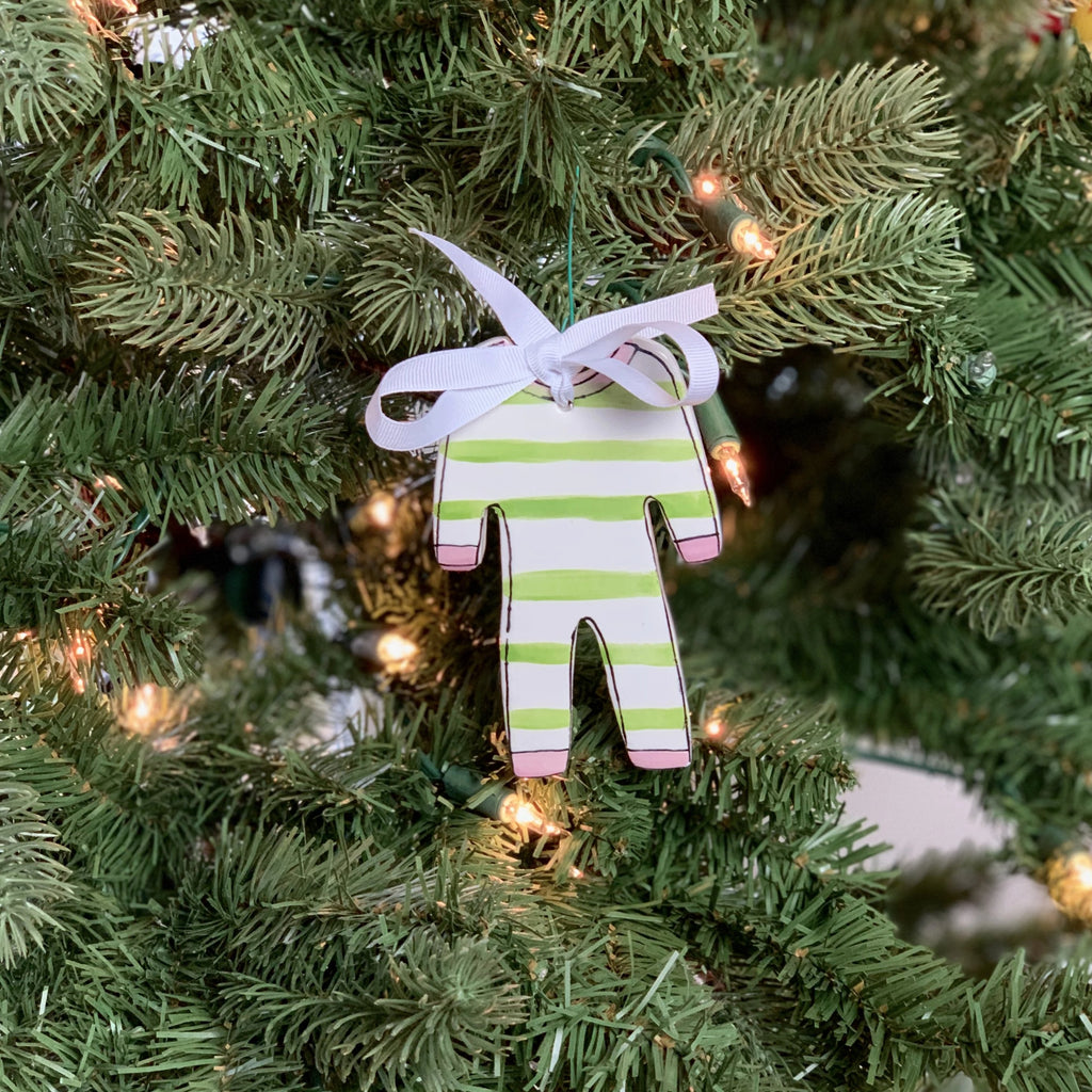 Personalized Pajama Christmas Ornament
