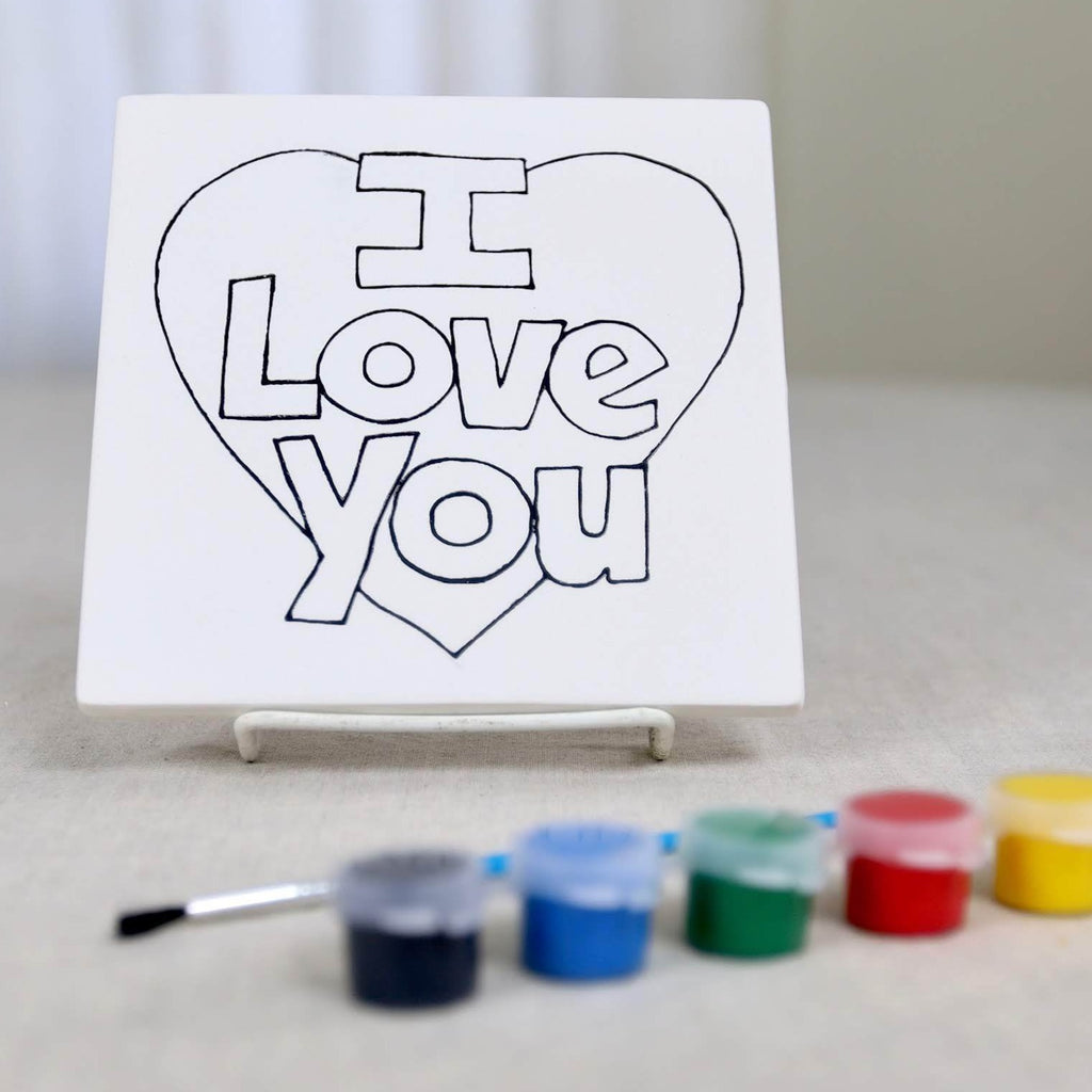 I Love You Tile Pottery Paint Kit