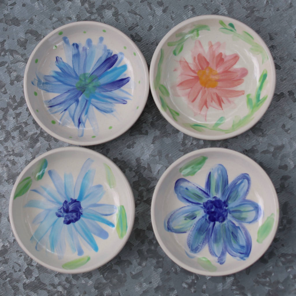 Assorted Floral Coupe Plates