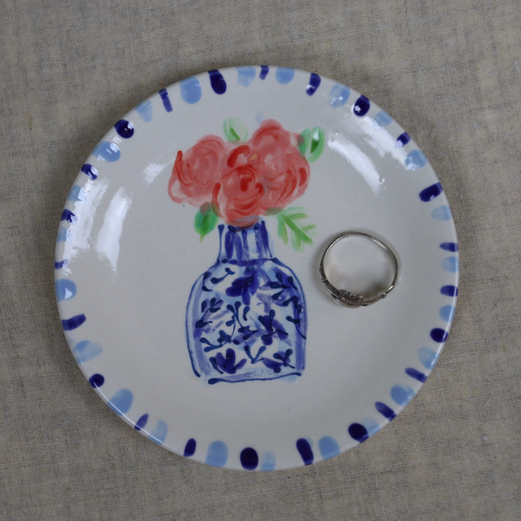 Roses in Vase Mini Bowl