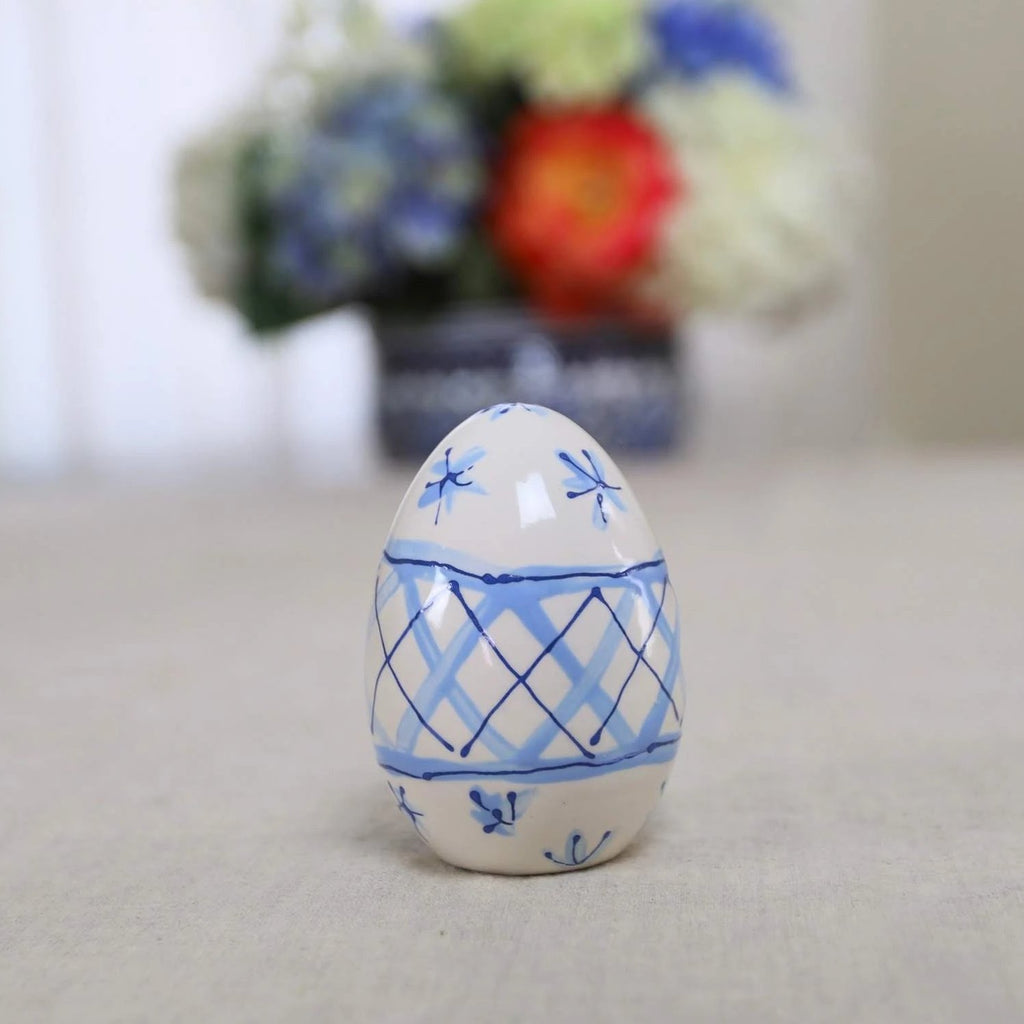 Blue and White Modern Chinoiserie Pattern Ceramic Eggs