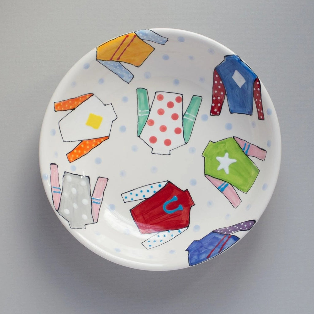 Derby Jockey Silk Pasta Bowl