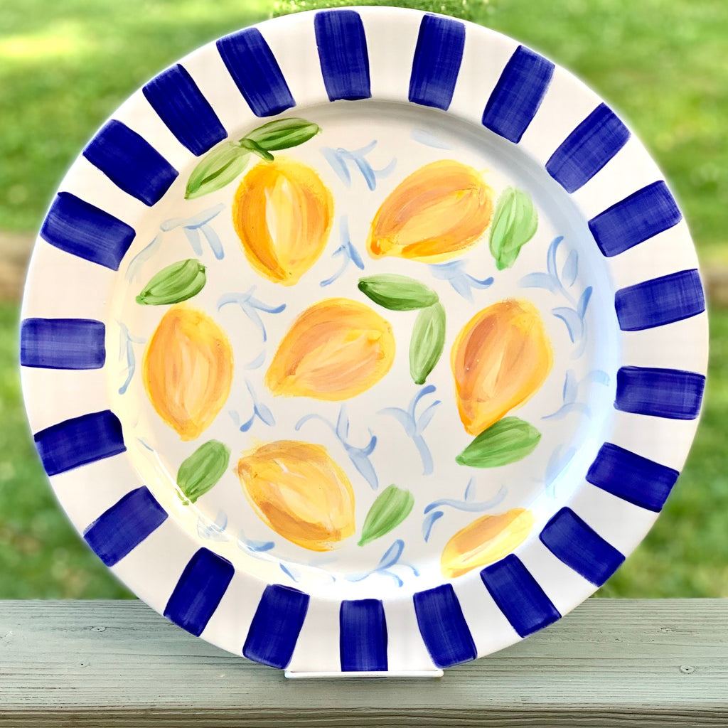Extra Large Lemon Lovers Ceramic Platter