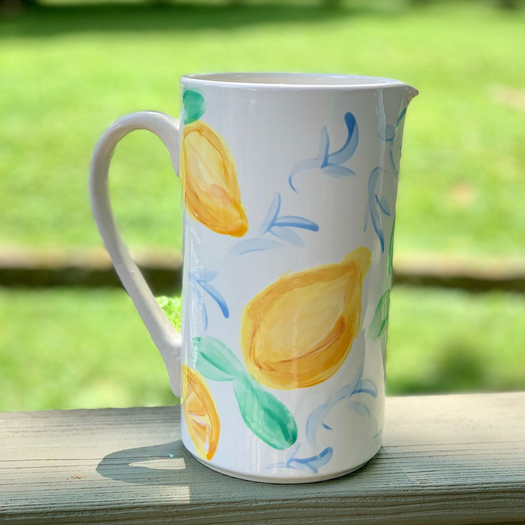 Lemon Lovers Ceramic Pitcher