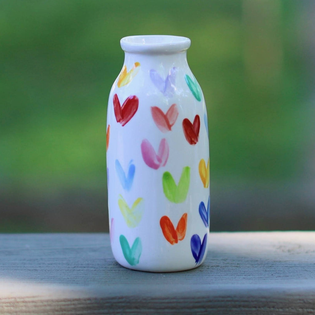 Heart Pattern Milk Jar Vase