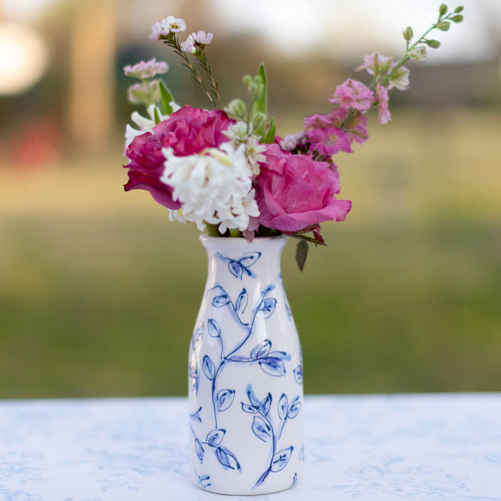 Vine Pattern Milk Jar Vase