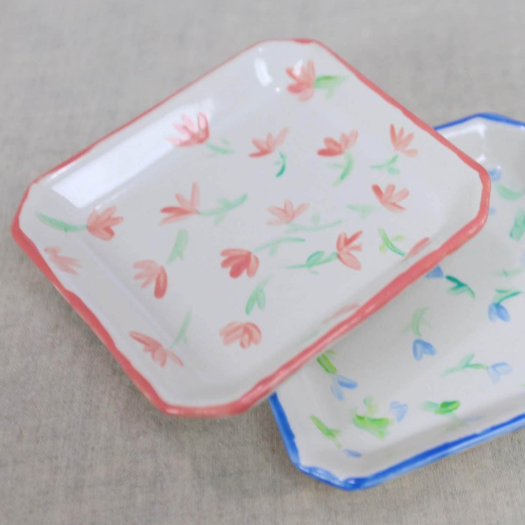 Delicate Floral Pattern Catch All Dish