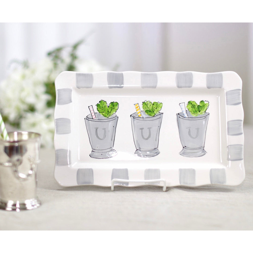 Kentucky Derby Mint Julep Platter