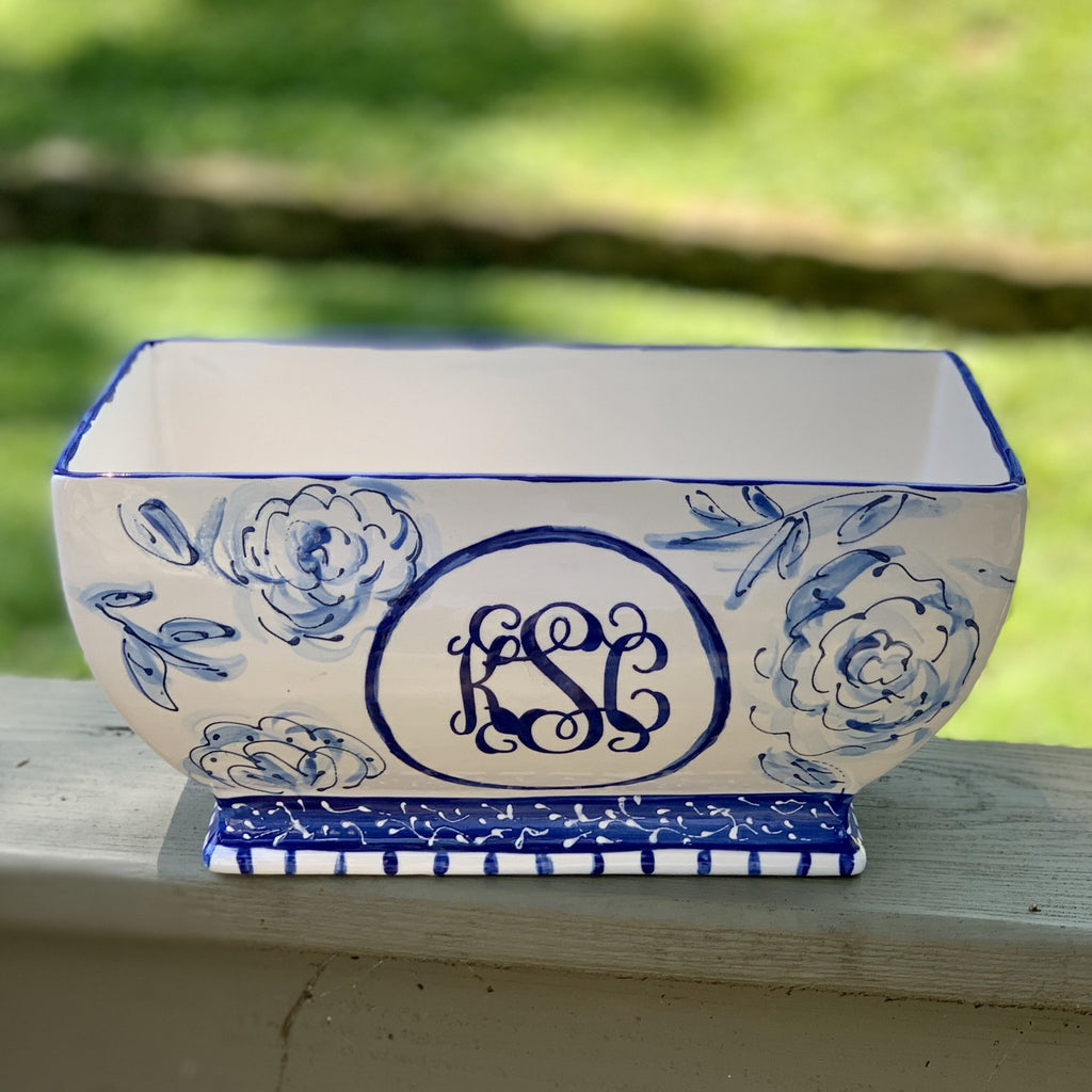 Monogram Chinoiserie Planter