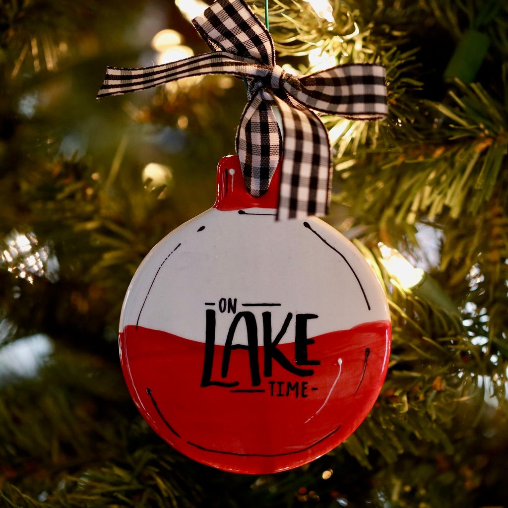Lake Themed Personalized Christmas Ornament