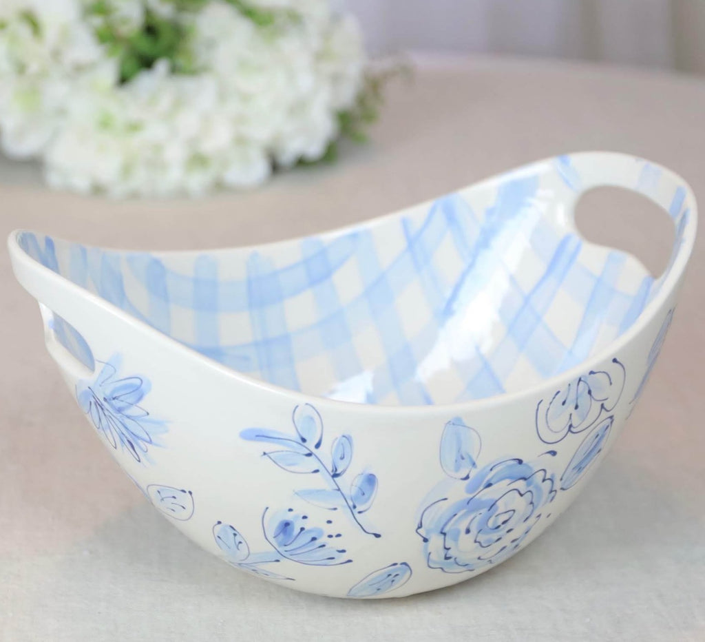 Oval Swoop Bowl Floral