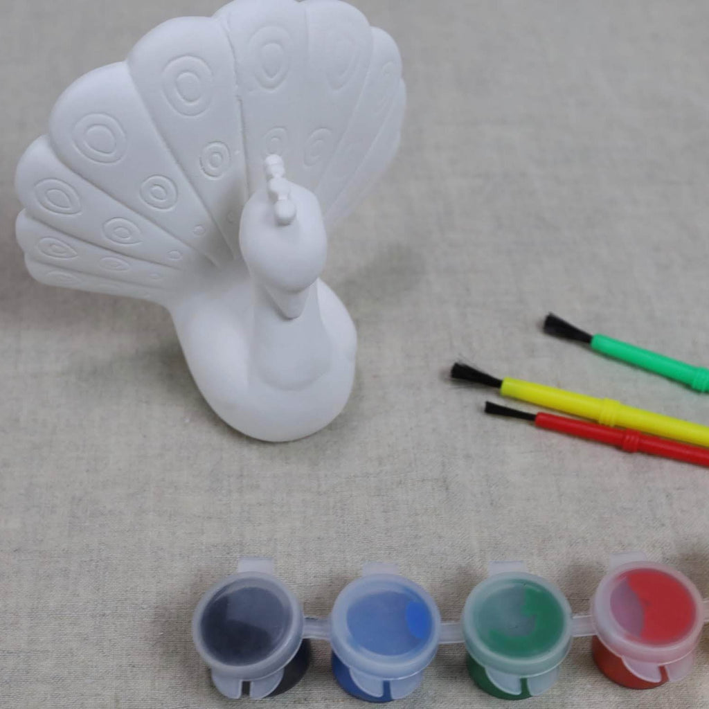 Peacock Pottery To Go Paint Kit