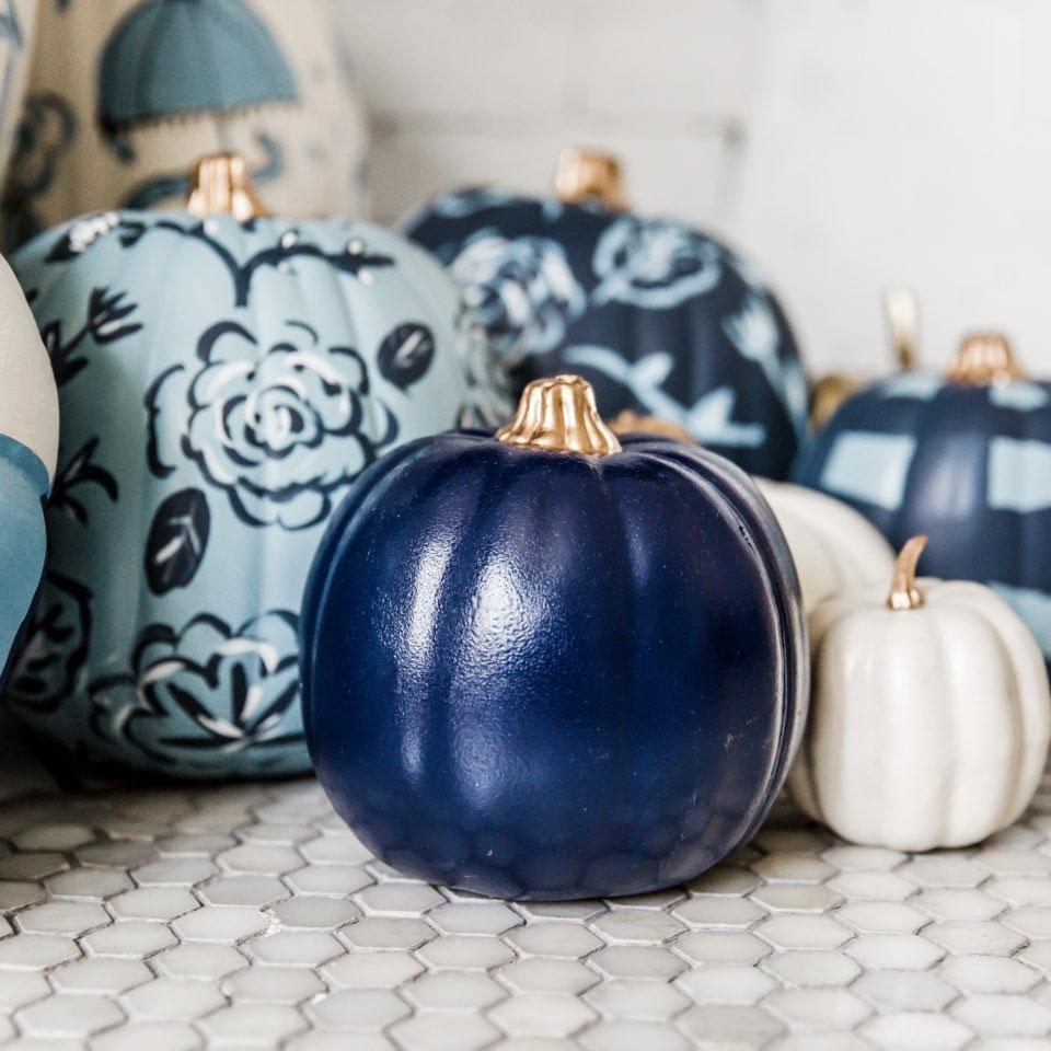 Sarah Tucker Collection - Navy Blue Pumpkin - Photos by Rina Kay