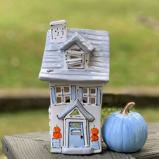 Haunted House Halloween Votive