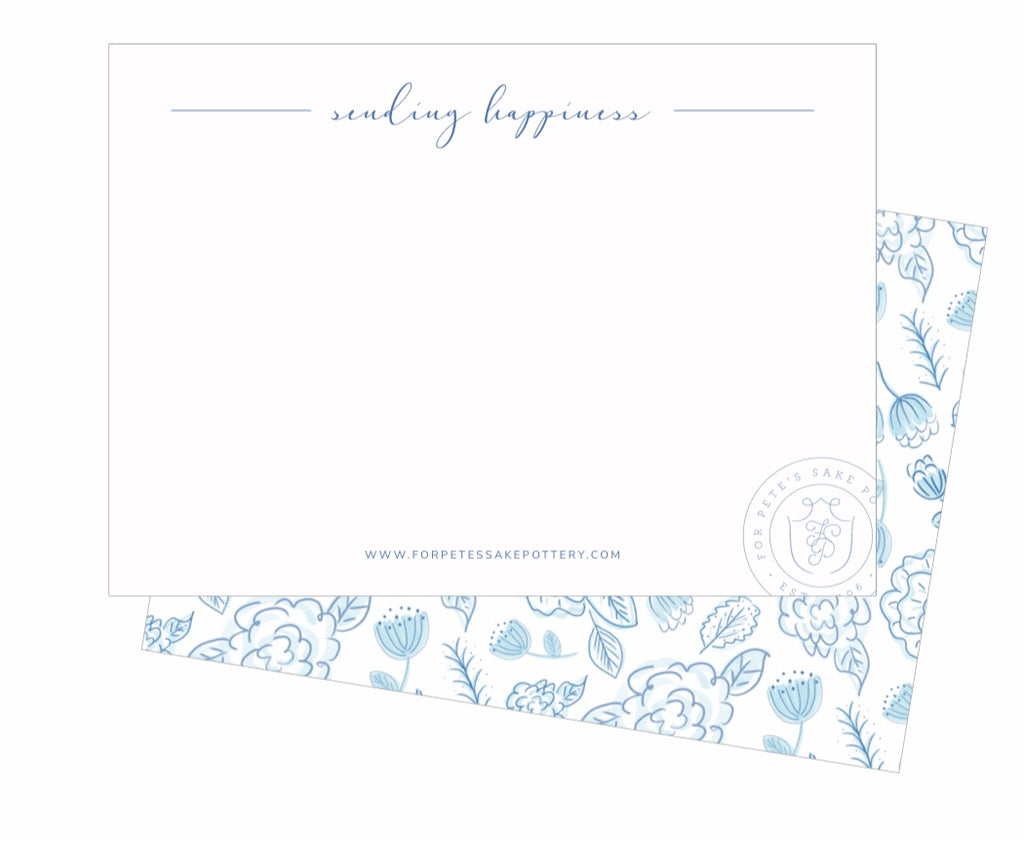 Send Happiness: Blue and White Floral and Stripe Vase