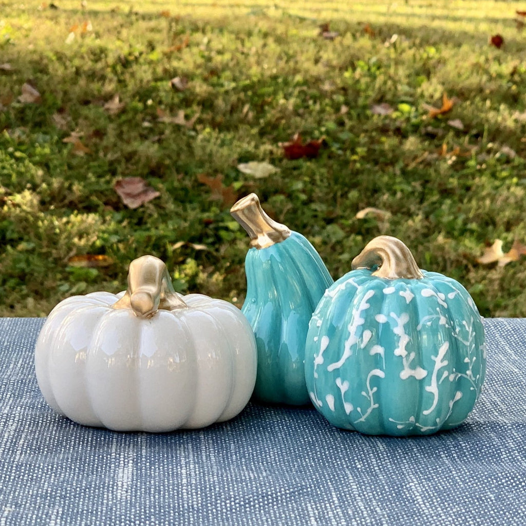 Mini Teal Pumpkin Set