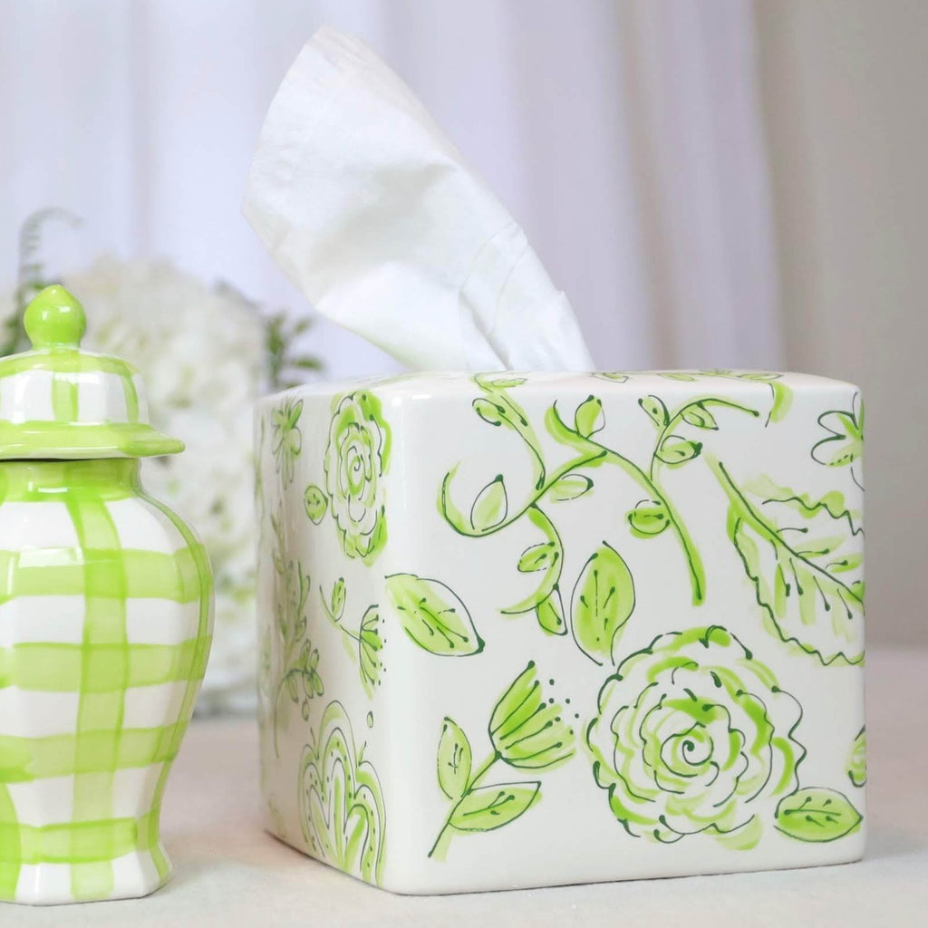 Tissue Box Green