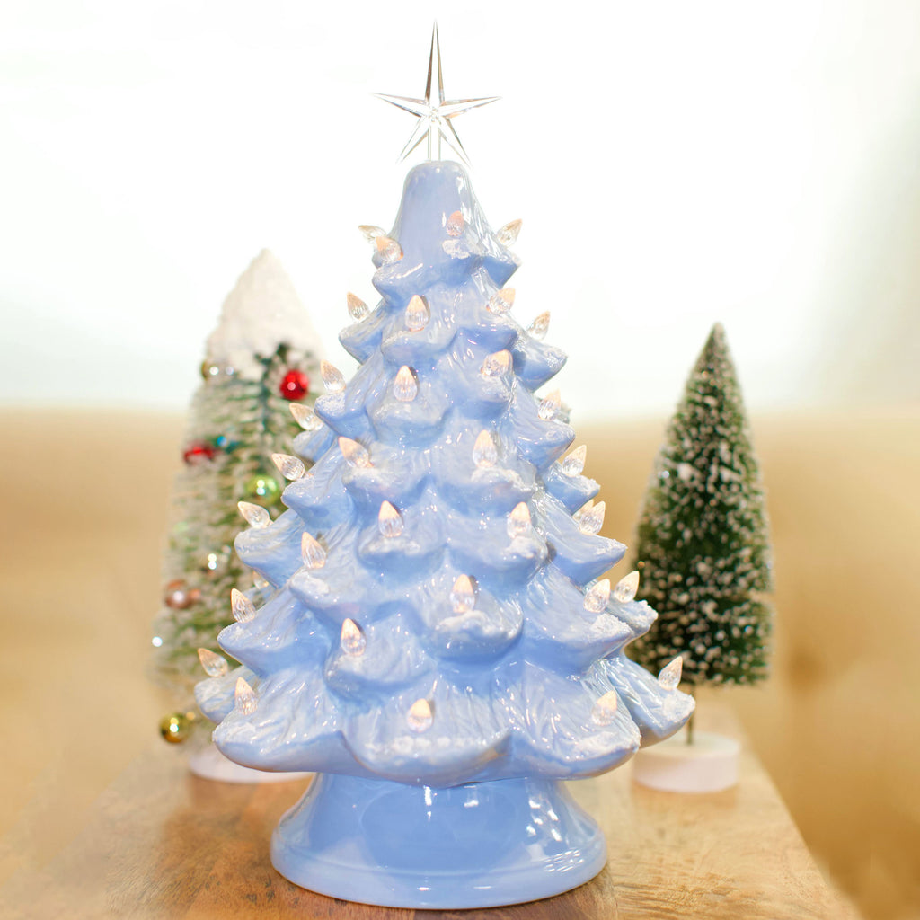 "13"" Vintage Style Ceramic Christmas Tree"