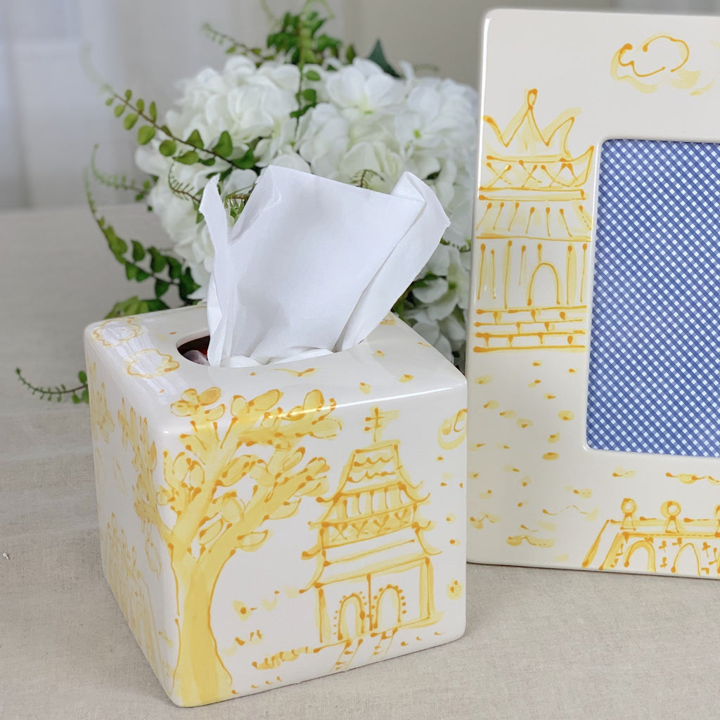 Tissue Box Yellow