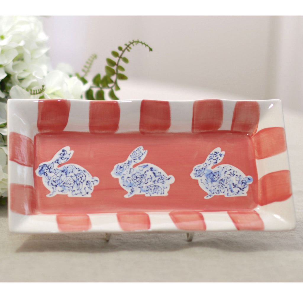 Bunny Rectangular Easter Platter