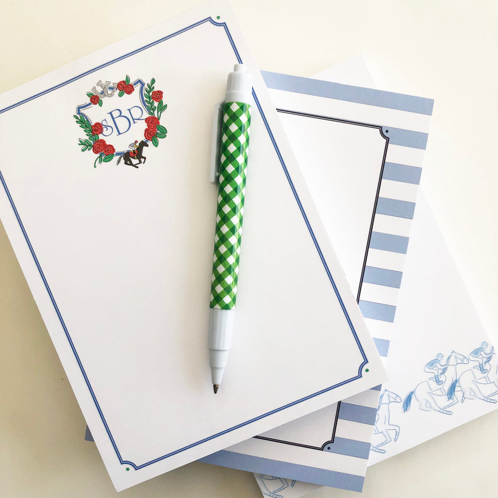 Derby Crest Personalized Notepad