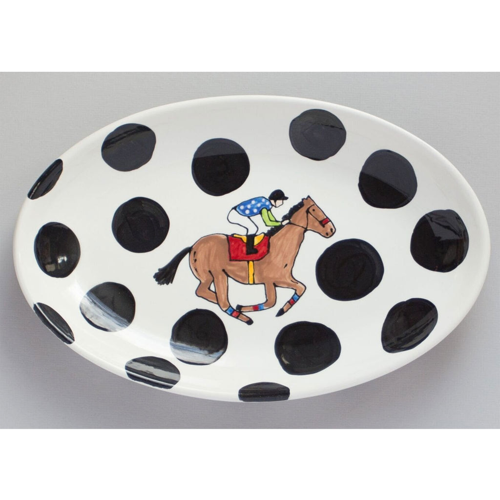 Kentucky Derby Horse Racing Oval Serving Platter