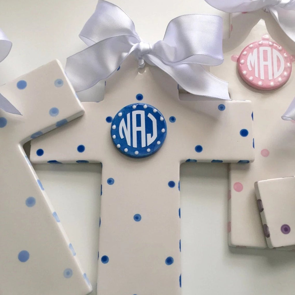 Monogrammed Ceramic Cross