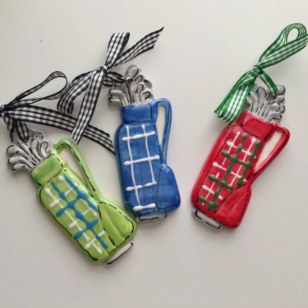 Golf Lovers Golf Bag Ornament