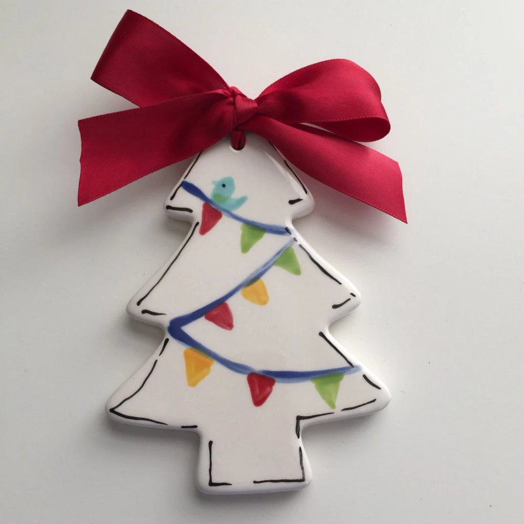 Personalized White Christmas Tree Ornament