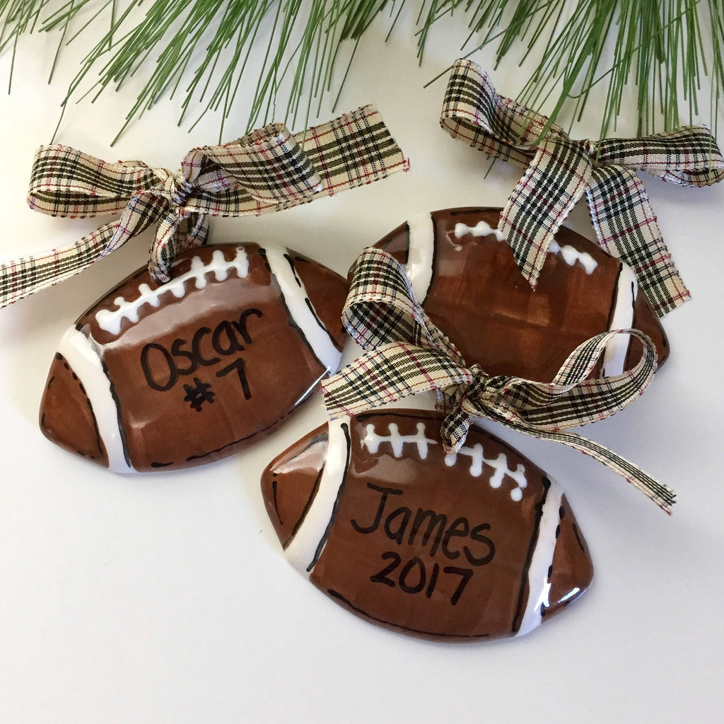Personalized Football Holiday Ornament