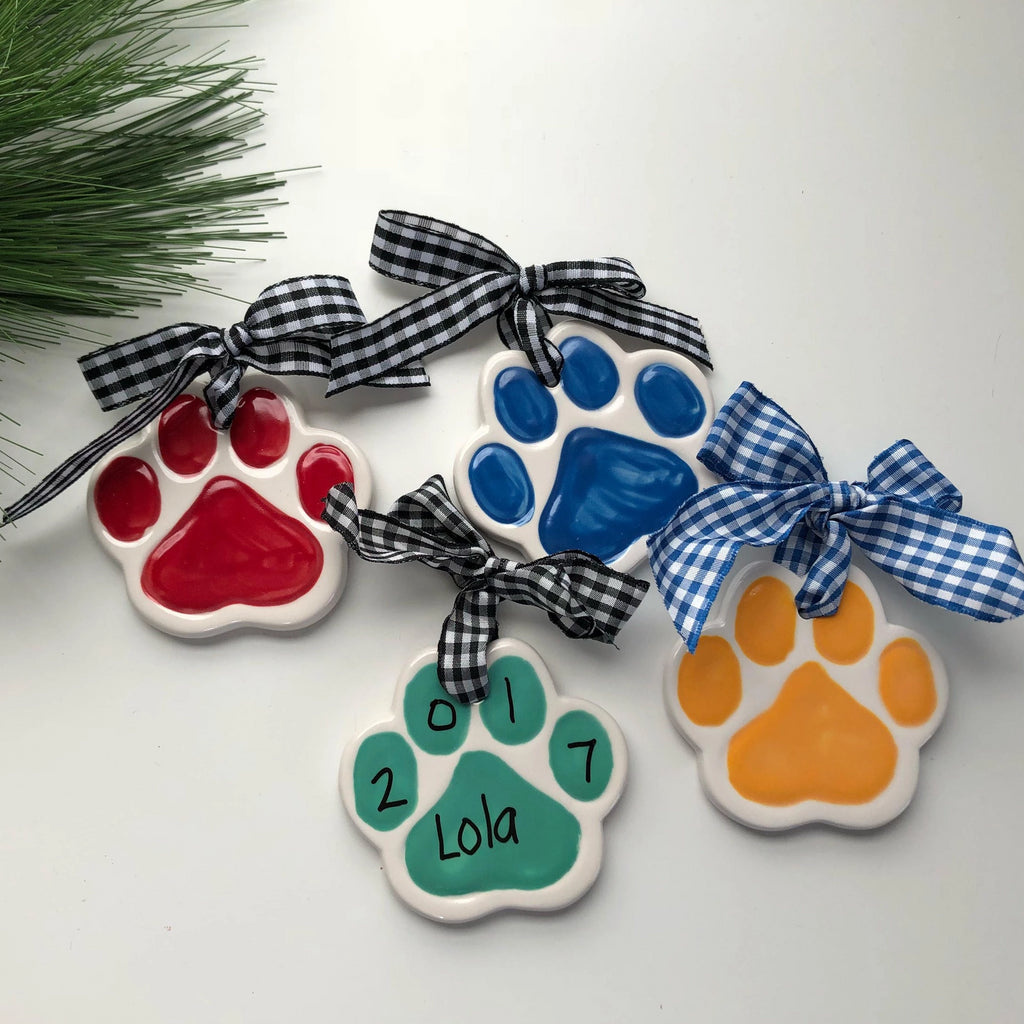 Personalized Pet Paw Christmas Ornament
