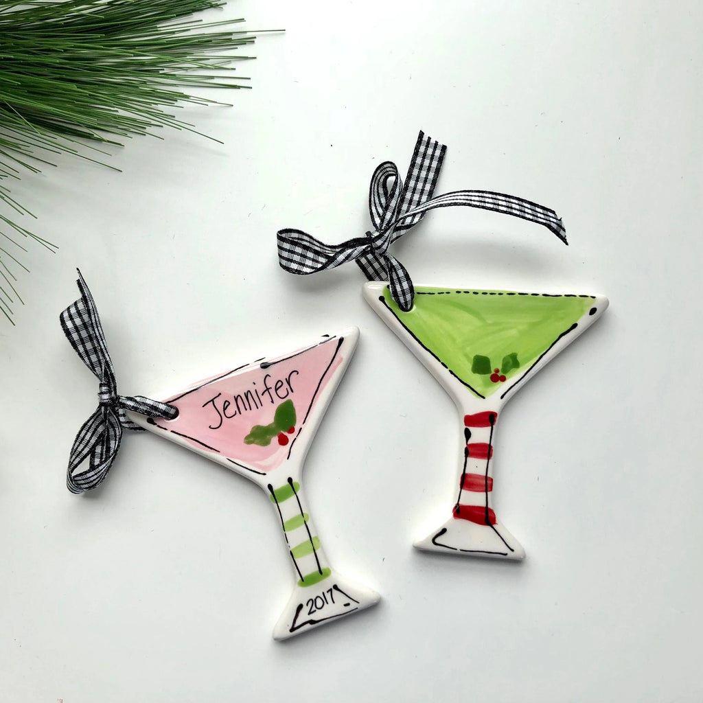 Personalized Martini Christmas Cocktail Ornament