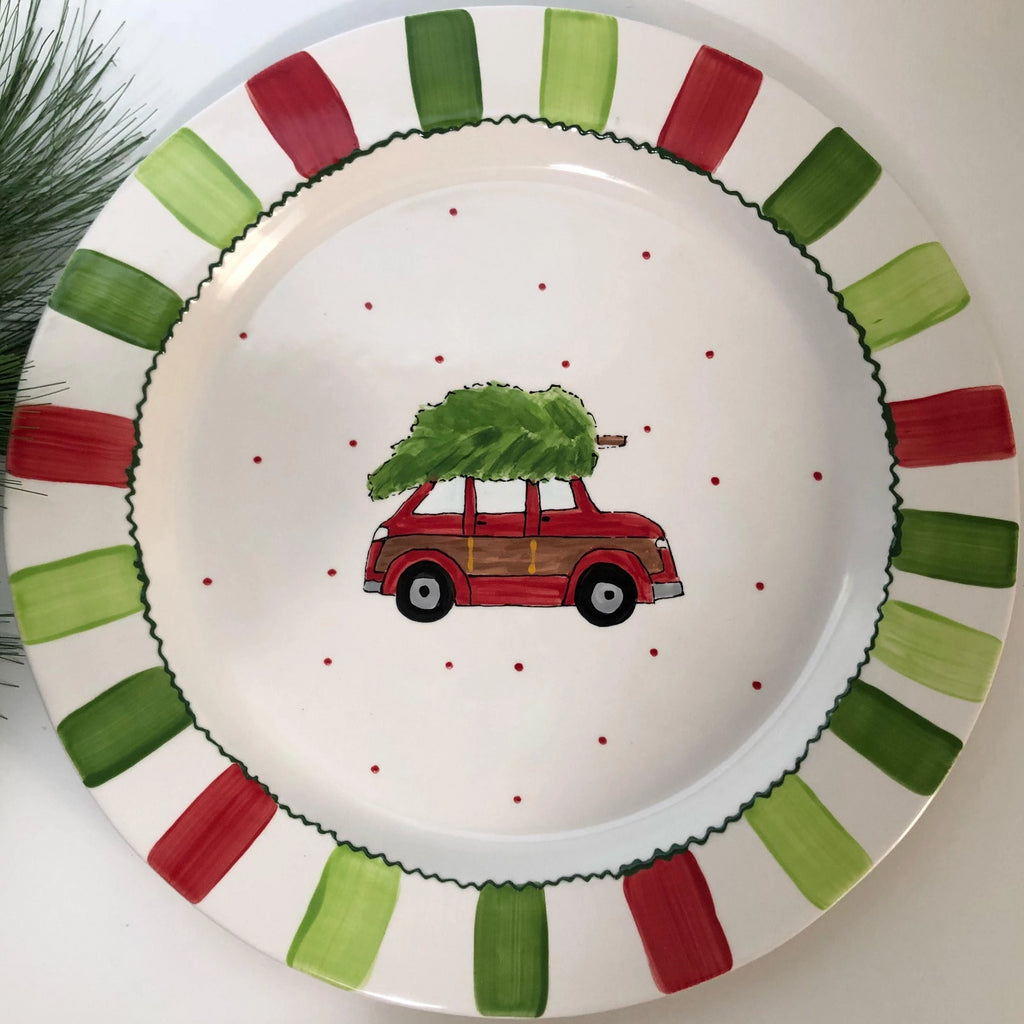 Dashing Through The Snow Large Round Platter