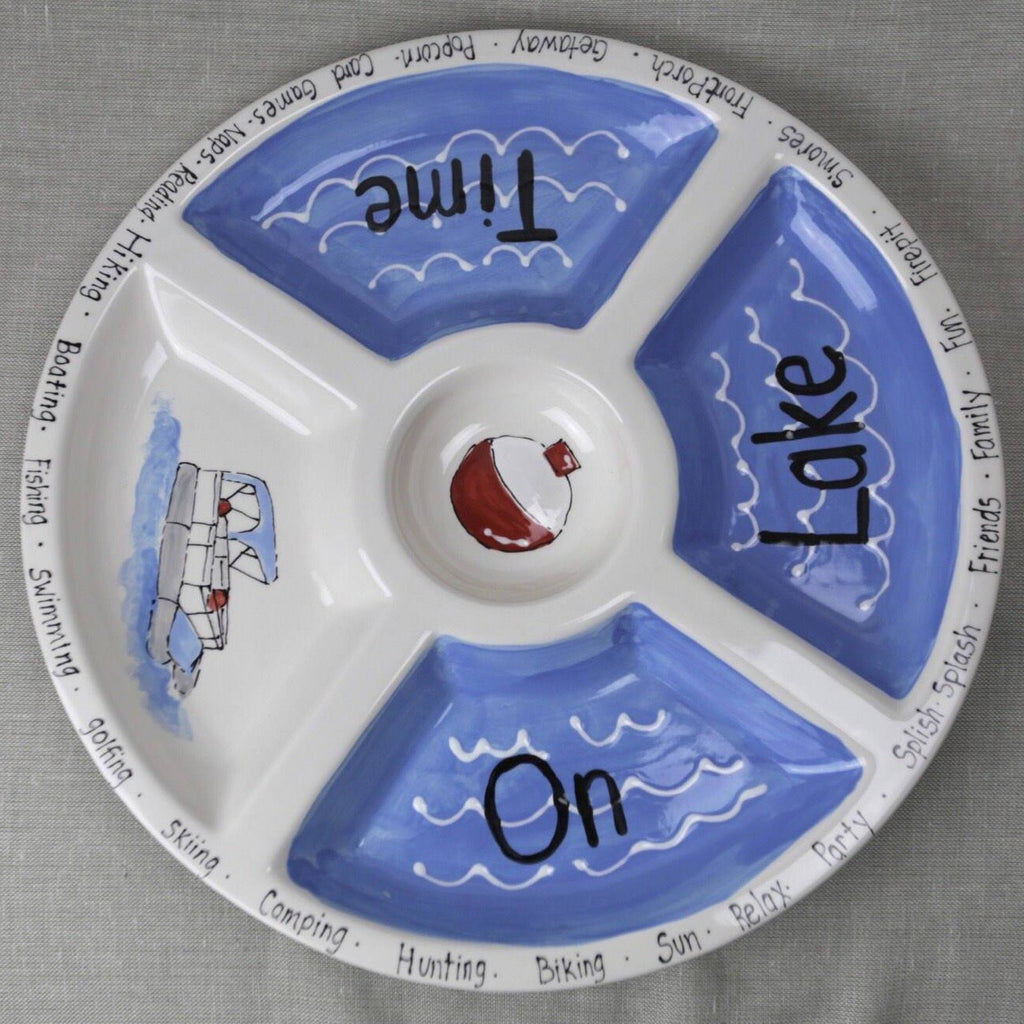 On Lake Time Party Platter Blue