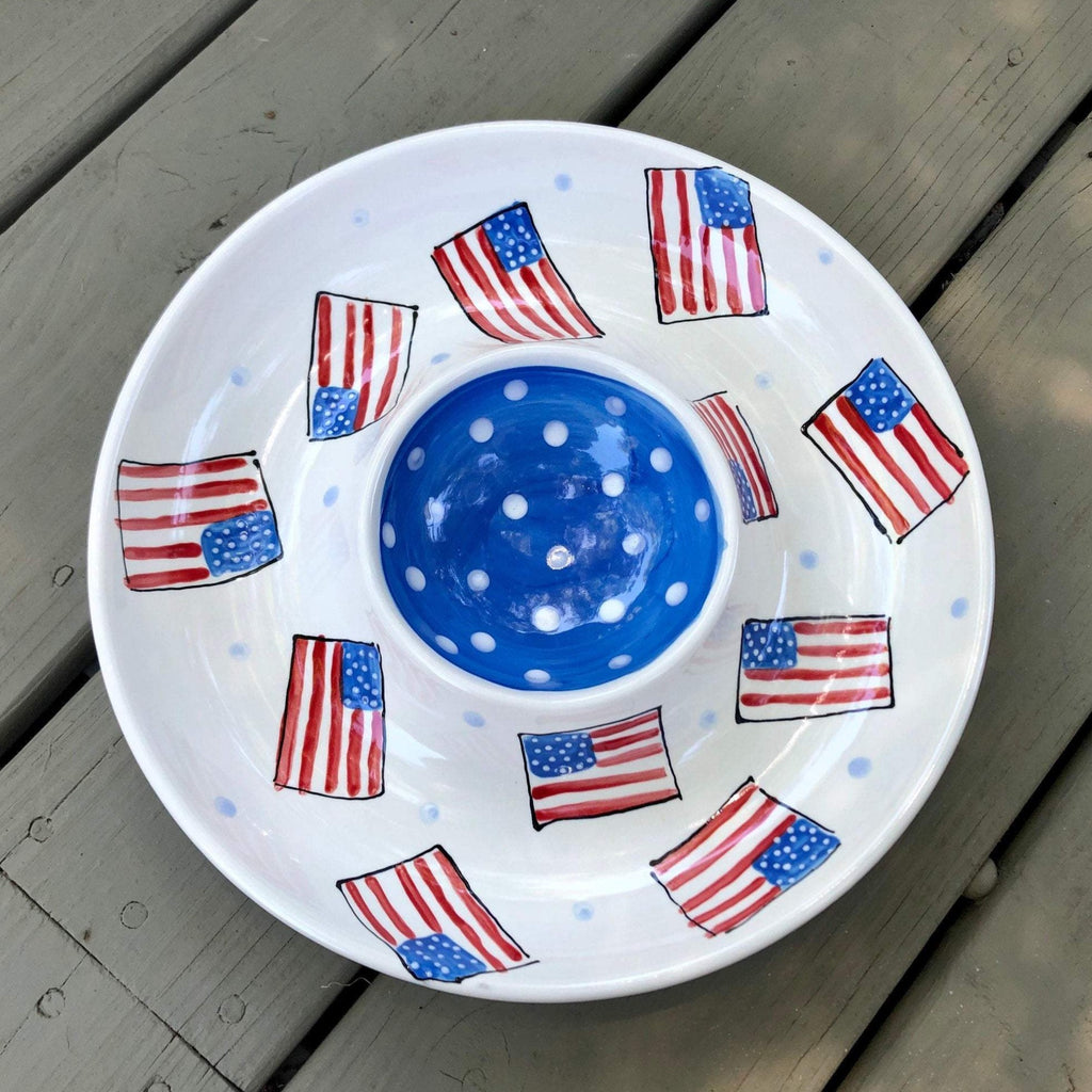 Fourth of July Chip and Dip Platter