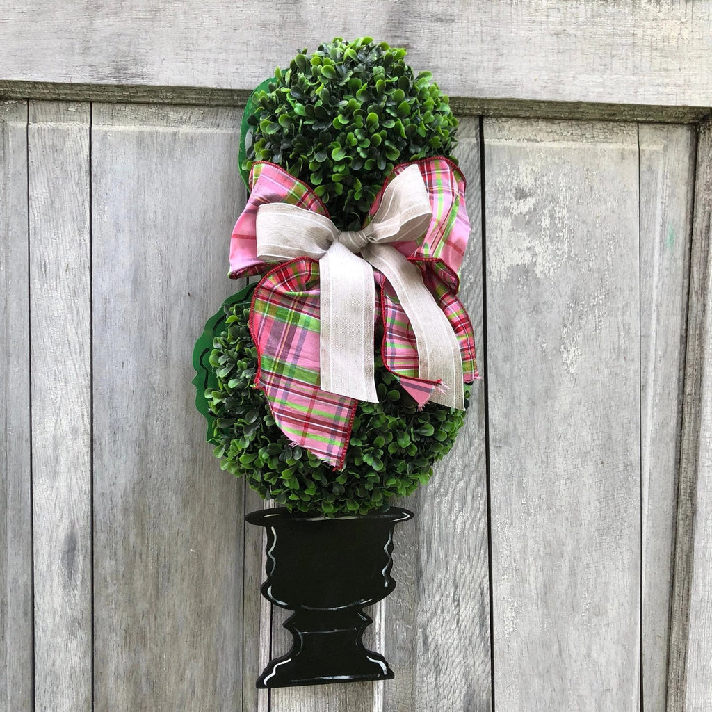 Boxwood Topiary Door Hanger