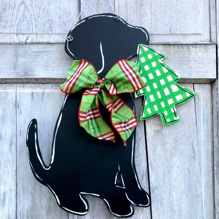 Christmas Labrador Door Hanger