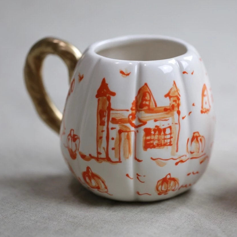 Halloween Toile Pumpkin Mug