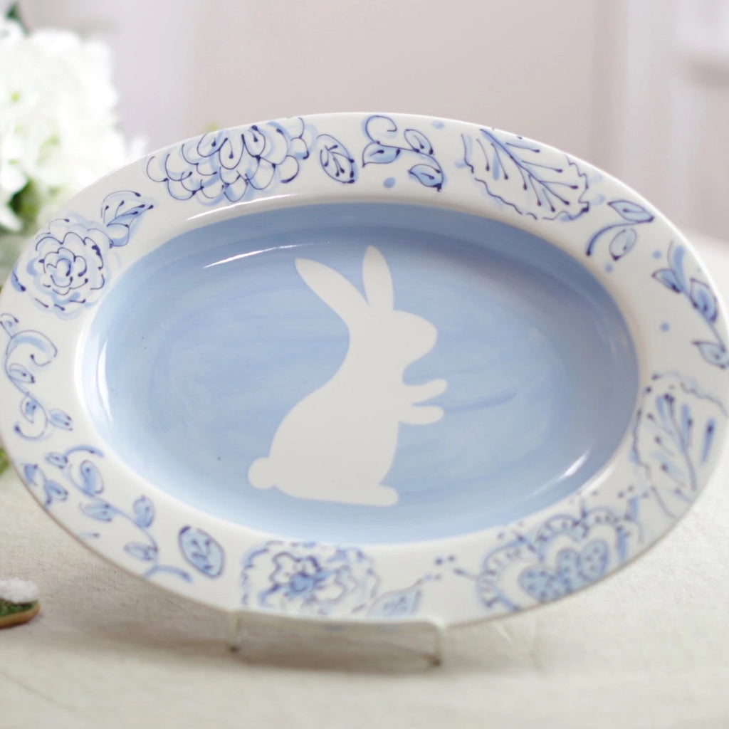 Easter Hand Painted Bunny Serving Dish