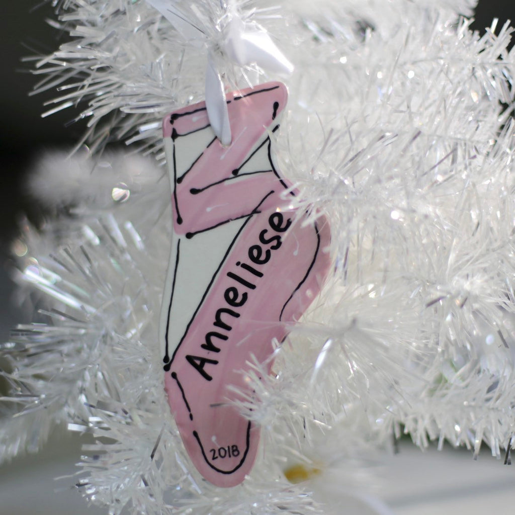 Hand Painted Personalized Ballerina Ornament
