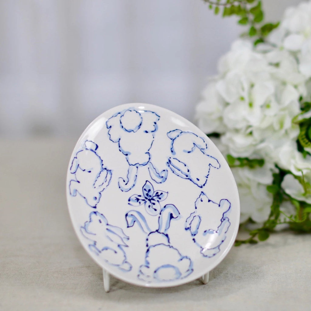Chinoiserie Style Easter Egg Plate