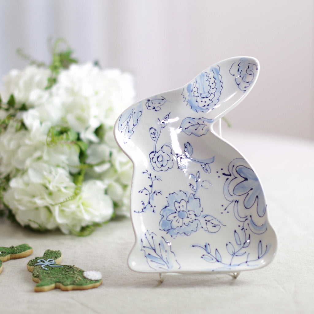 Bunny Shaped Easter Chinoiserie Dish