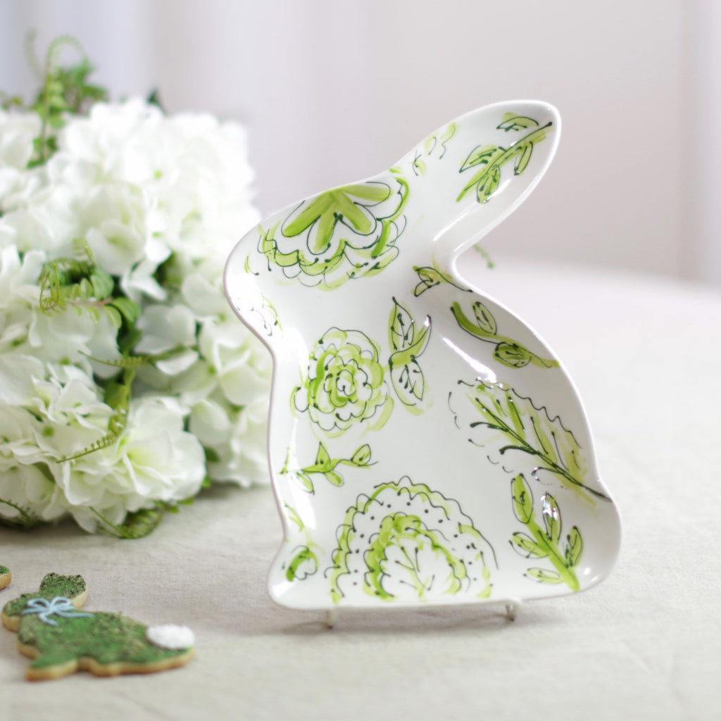 Chinoiserie Bunny Shaped Easter Dish