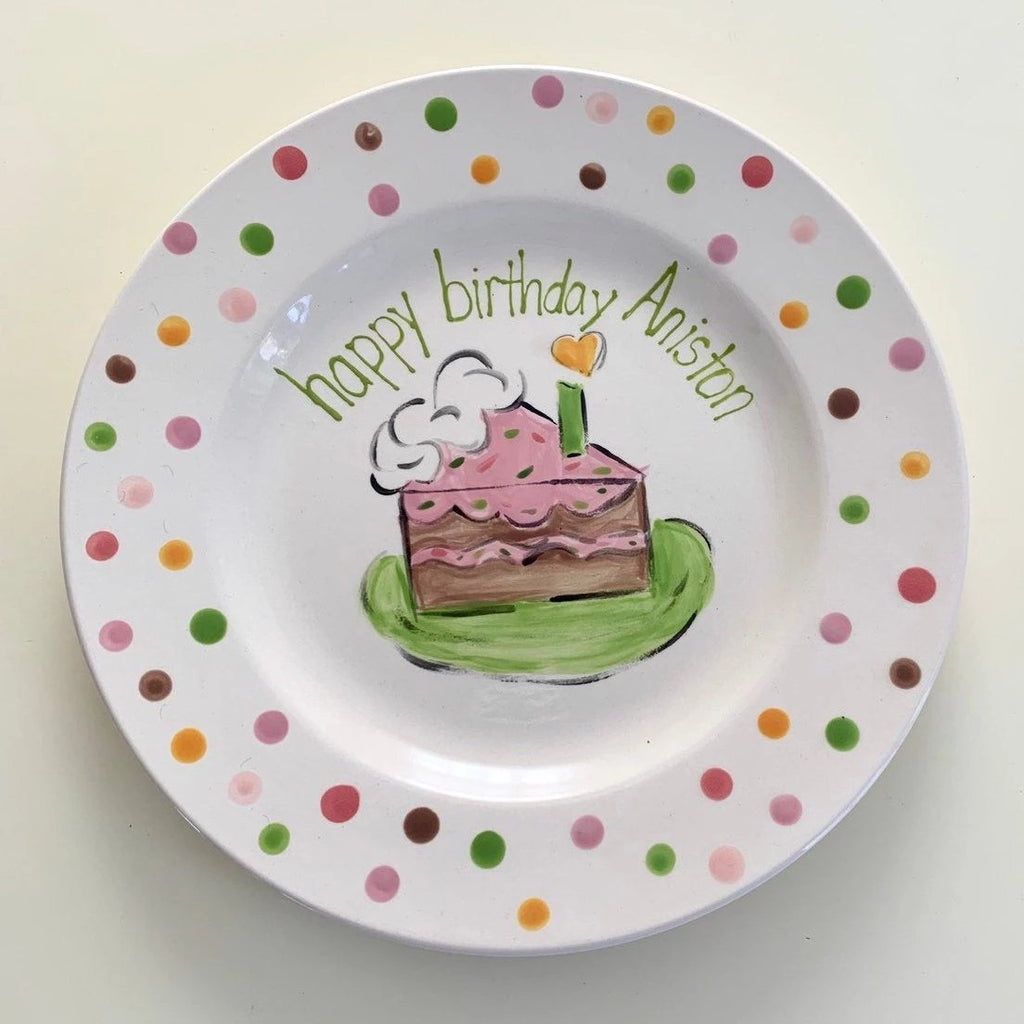 Personalized birthday celebration plate