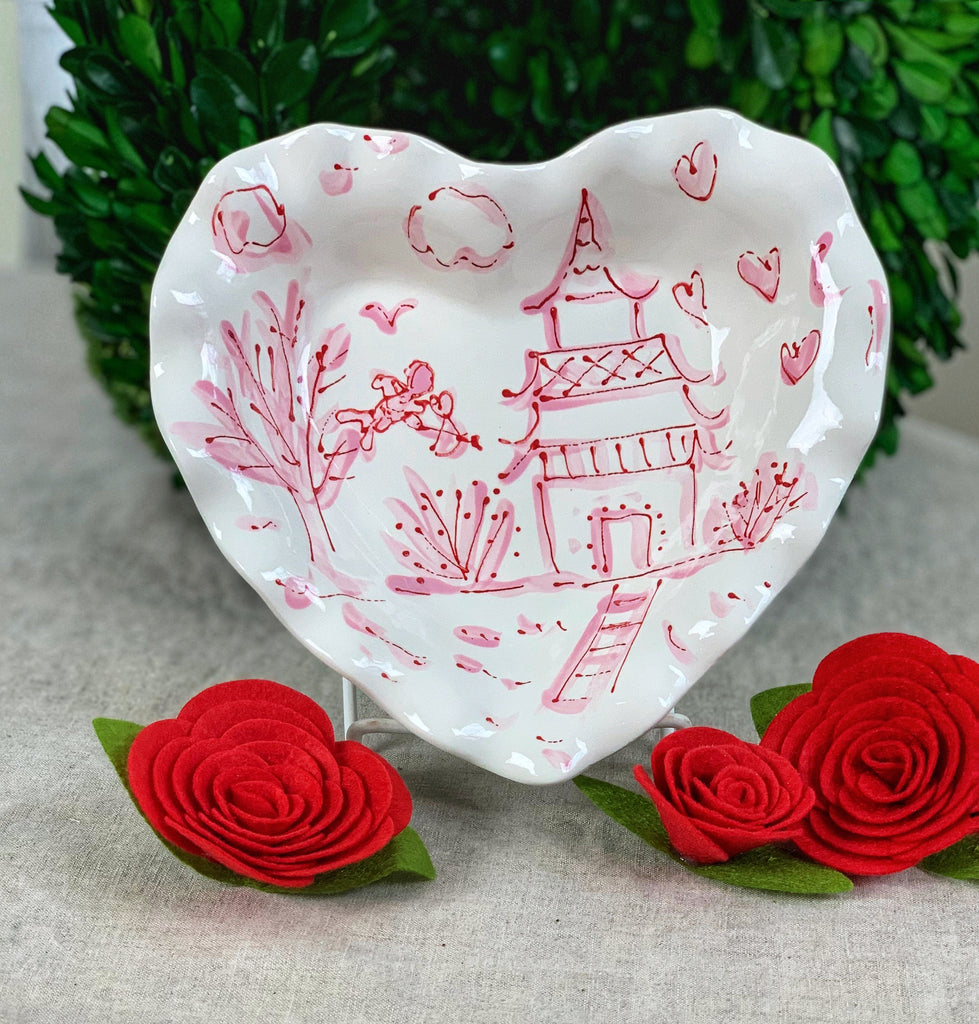 Valentine's Day Chinoiserie Heart Dish